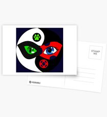 Miraculous Ladybug Yin Yang Postcards