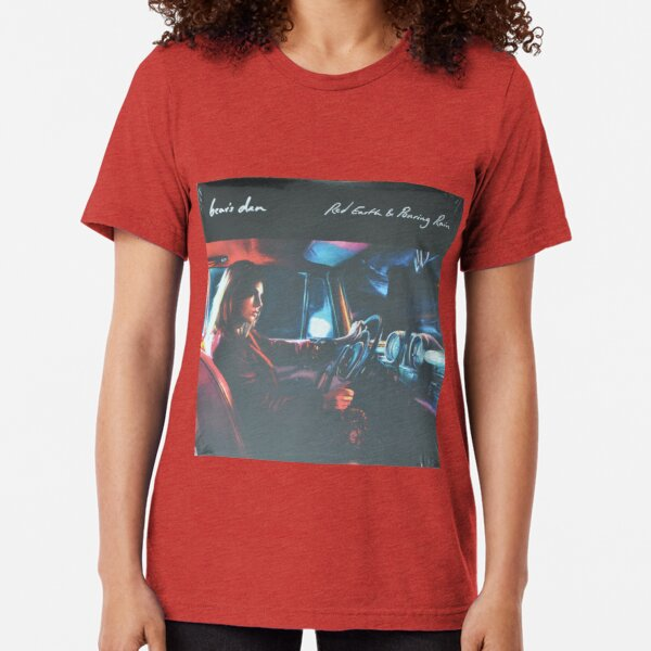 Bear's Den - Red clay and Pouring rain - Vinyl sleeve Tri-blend T-Shirt