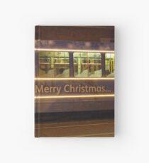 Merry Christmas Tram in Amsterdam Hardcover Journal