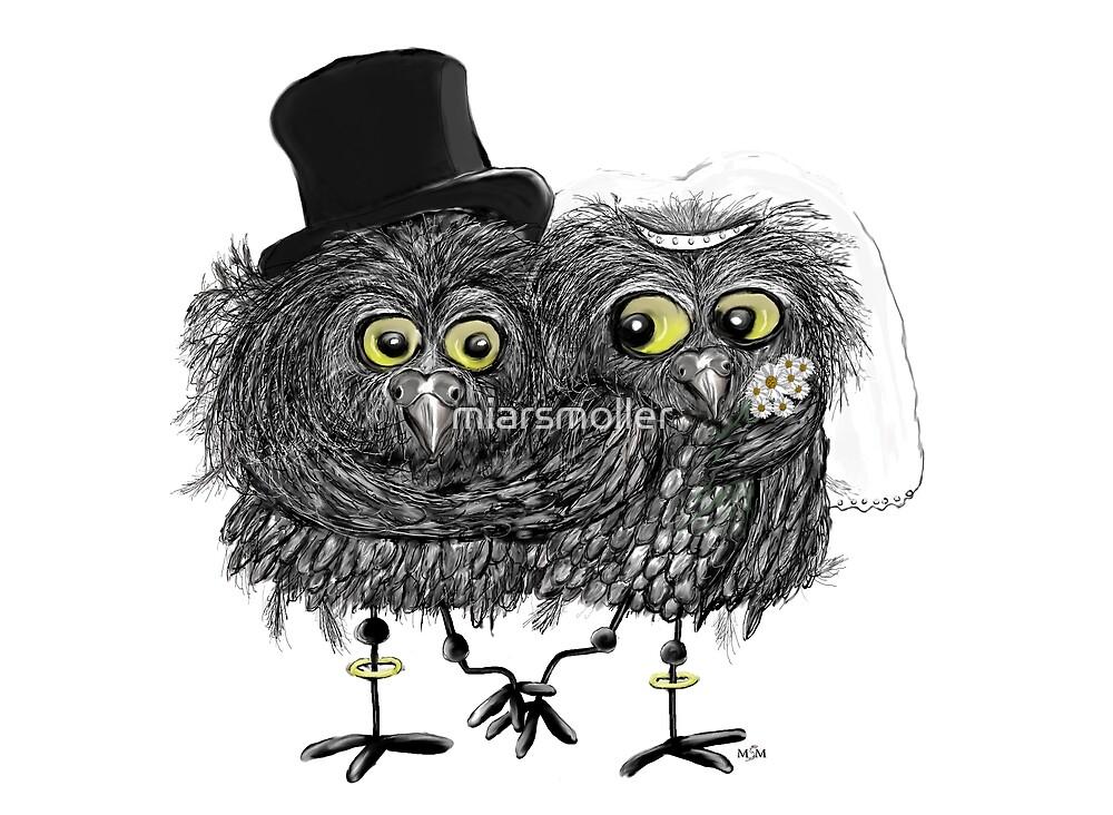 wedding owls by miarsmoller