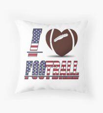 I love football Throw Pillow