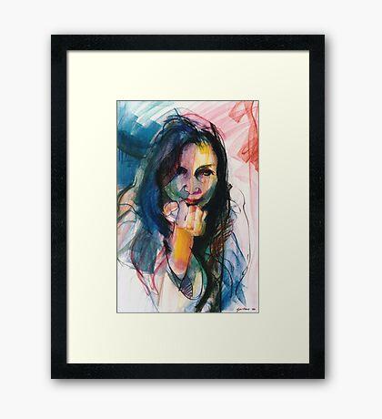 Janine in Pastel Framed Print