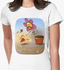 Self-rescuing princess Women's Fitted T-Shirt