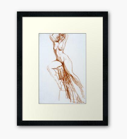 Stretching Figure Framed Print