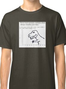 Datasaurus: Never trust summary statistics alone. Always visualize your data Classic T-Shirt