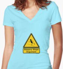 Slippery Slope Argument Women's Fitted V-Neck T-Shirt