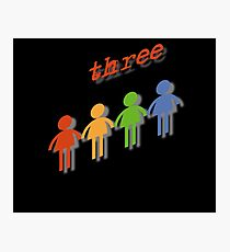 Three types of people Photographic Print
