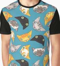 """""""Oro?"""" Cats - Teal Graphic T-Shirt"""