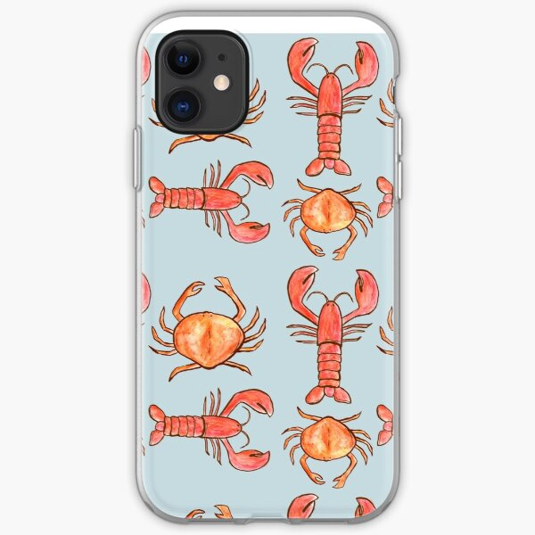 Lobster and Crab Pattern  iPhone Soft Case