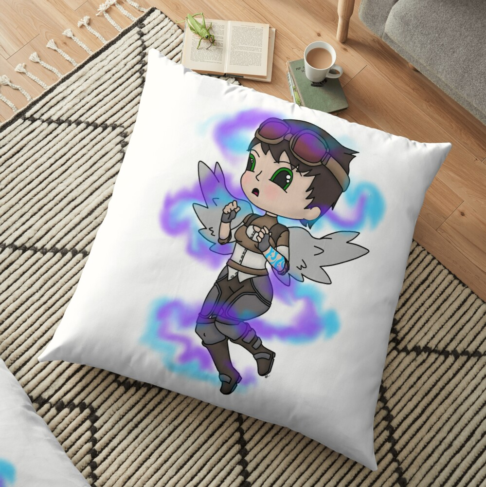 Chibi tannis fan art Floor Pillow