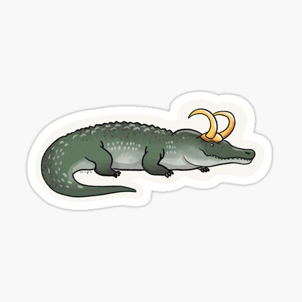 Ne jamais sourire à un Loki-dile Sticker