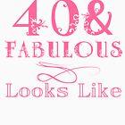 Fun Fabulous 40th Birthday by thepixelgarden