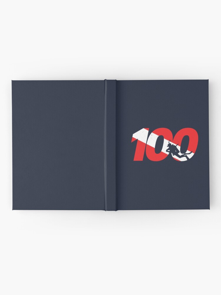 Alternate view of Scuba Diver Gift - 100th Dive - Diver Down - Scuba Diving Hardcover Journal