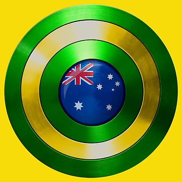 CAPTAIN AUSTRALIA - Captain America shield inspired Oz version by infrablue