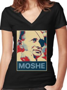 Moshe Dayan Women's Fitted V-Neck T-Shirt