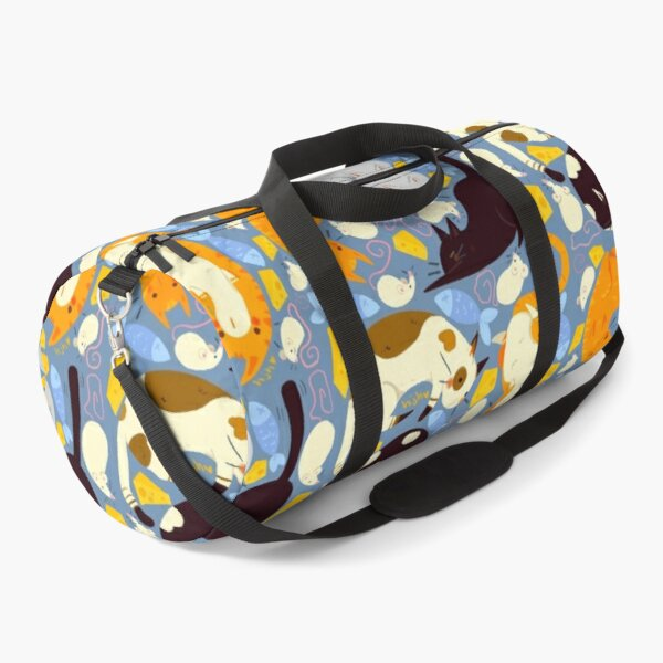Cute Cat and Mouse Pattern Duffle Bag
