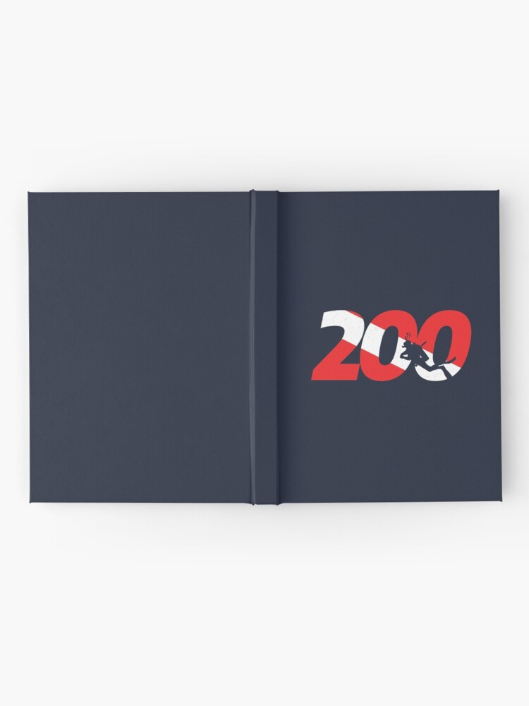 Alternate view of Scuba Diver Gift - 200th Dive - Diver Down - Scuba Diving Hardcover Journal