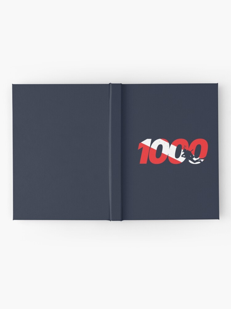 Alternate view of Scuba Diver Gift - 1000th Dive - Diver Down - Scuba Diving Hardcover Journal