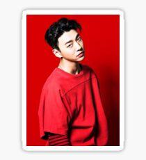 Yongguk - Feel so Good (Red) Sticker