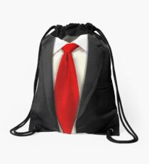 Suit and Tie: Drawstring Bags | Redbubble