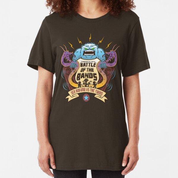 Sex Bob-Omb VS The Twins  Slim Fit T-Shirt