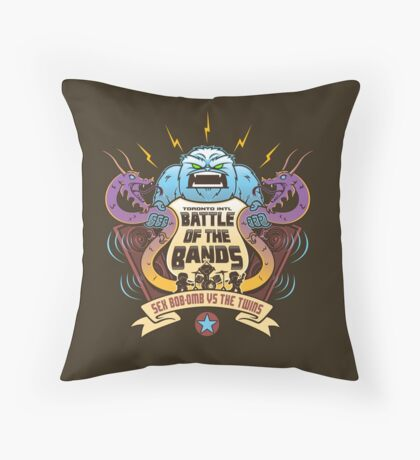 Sex Bob-Omb VS The Twins  Throw Pillow