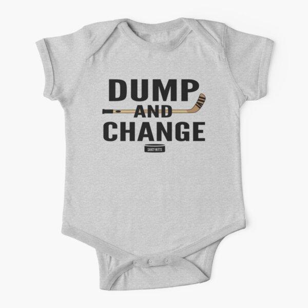 Dump and Change Hockey Short Sleeve Baby One-Piece