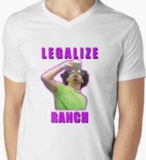 Legalize Ranch Version 1 T-Shirt mit V-Ausschnitt