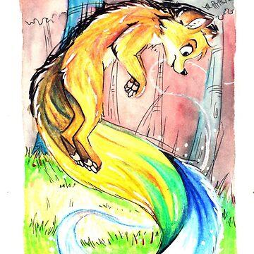 Watercolor Fox by pandapaco