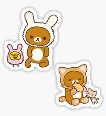 Rilakkuma Animals Pack Sticker