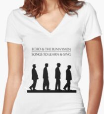 Echo And The Bunnymen - Songs To Learn And Sing Women's Fitted V-Neck T-Shirt