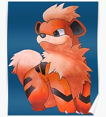 Pokemon Growlithe Poster