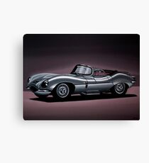 Jaguar XKSS Painting Canvas Print