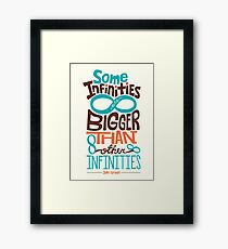 Some Infinities are Bigger Than Other Infinities Framed Print