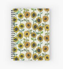 Painted Sunflowers Spiral Notebook
