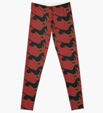 Running Dachshund  Leggings