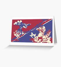 Pokemon Groundon vs Kyogre Greeting Card
