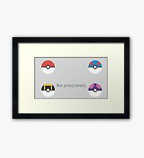 Pokemon Balls Framed Print