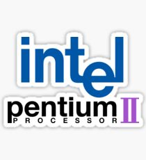 Intel Pentium II logo Sticker