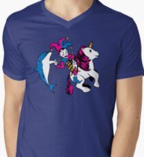The Unicorn and the Jester Men's V-Neck T-Shirt