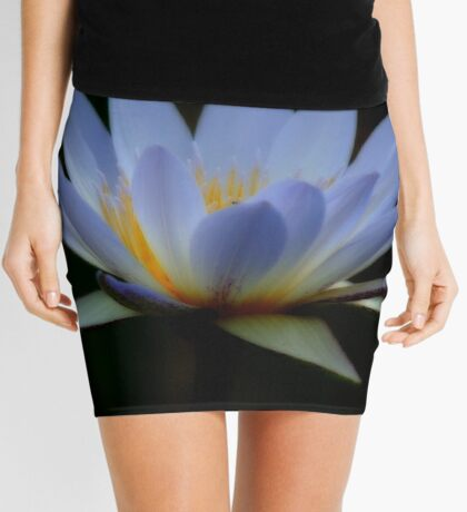 IN BLUE - THE WATERLILY - – Nymphaea nouchall Mini Skirt