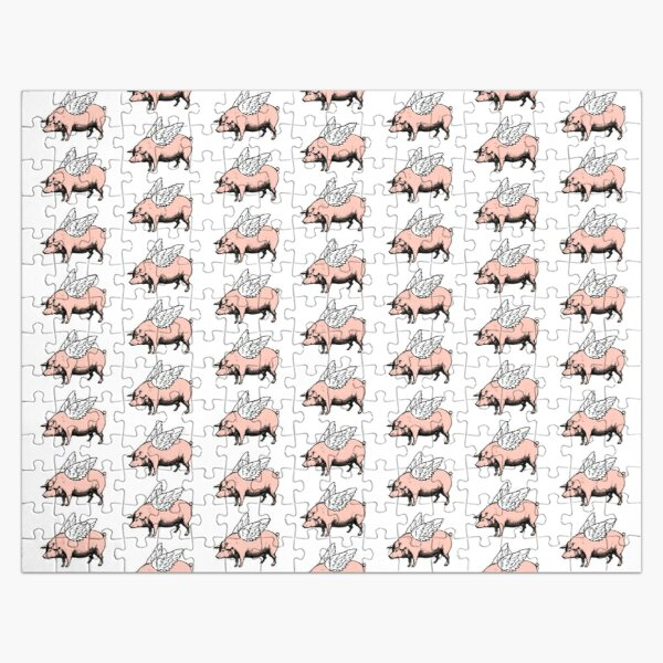Pig with Wings | Flying Pig | When Pigs Fly | Pigs with Wings | Vintage Pig |  Jigsaw Puzzle
