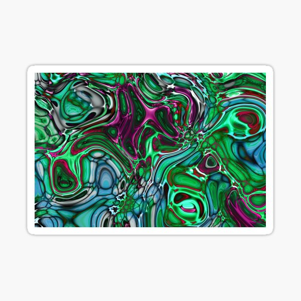 Abstract Coloured Fused Glass Sticker