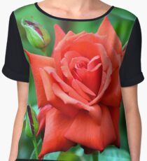 Dolly Parton Red Rose Women's Chiffon Top