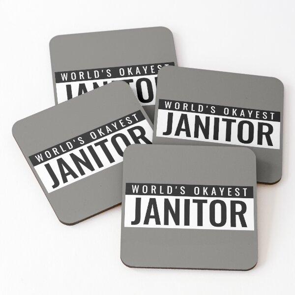 World's Okayest Janitor Coasters (Set of 4)