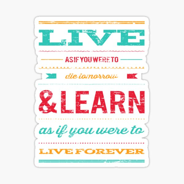 Live and Learn Sticker