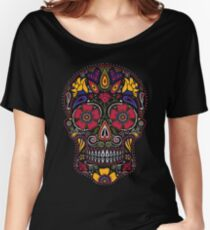 Day of the Dead Sugar Skull Dark Women's Relaxed Fit T-Shirt