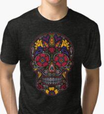 Tag der Toten Sugar Skull Dark Vintage T-Shirt