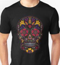 Camiseta ajustada Día de los Muertos Sugar Skull Dark