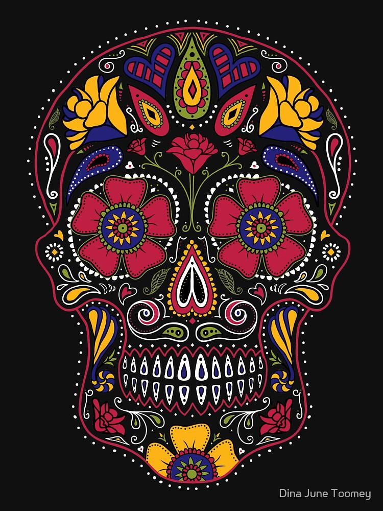 Day of the Dead Sugar Skull Dark by dinafiala